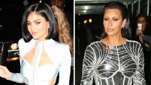 Kylie Jenner und Kim Kardashian in ihren Met-Gala-Looks