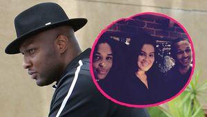 Lamar Odom, seine Ex-Partnerin Liza Morales und die gemeinsamen Kinder Destiny und Lamar Junior