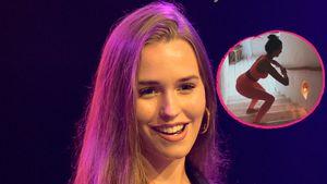 Treppen-Workout: Laura Müller sportelt im sexy Fitnesslook