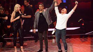 """Lena Gercke, Andreas Bourani und Tay Schmedtmann beim Halbfinale von """"The Voice"""""""