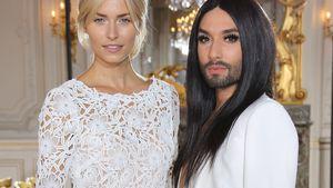 Ganz in Weiß: Lena Gercke & Conchita Wurst in der Front Row
