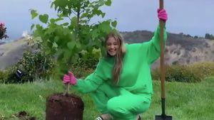 Tag der Erde: Leni Klum pflanzt Baum für den Umweltschutz