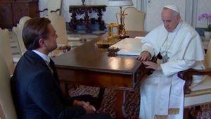 Leonardo Di Caprio und Papst Franziskus I.