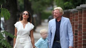 Lilly und Boris Becker mit Sohn Amadeus in London 2017