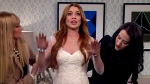"Lindsay Lohan schiebt Panik bei ""2 Broke Girls"""