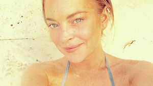 Lindsay Lohan ungestylt und ungeschminkt