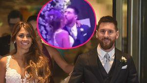 Ekel-Hochzeits-Kuss: So schlabbert Messi seine Antonella ab!