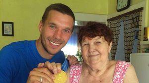 Emotionaler Abschied: Lukas Podolskis Oma ist verstorben