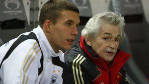 Lukas Podolski und Adolf Katzenmeier