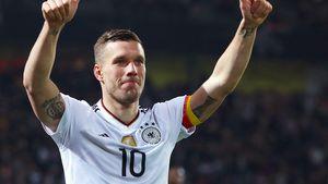 Lukas Podolski bei seinem letzten Länderspiel 2017