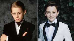 Macaulay Culkin und Noah Schnapp