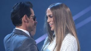 "Marc Anthony & Jennifer Lopez bei den ""Grammy Awards"" in Las Vegas"