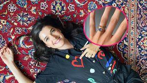 Symbol: Marie Nasemann hat einen Ring für ihr Regenbogenbaby