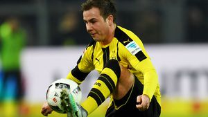 Mario Götze beim Bundesligaspiel BVB gegen Augsburg