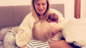 Marylu Poolman mit ihren zwei jüngsten Kindern