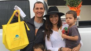 Matthew McConaughey, Camila Alves und ihre Kinder