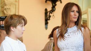 Melania Trump mit Sohn Barron in Palm Beach, Florida