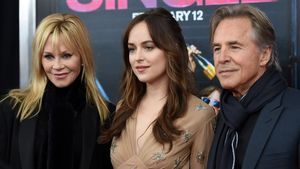 Melanie Griffith, Dakota Johnson und Don Johnson