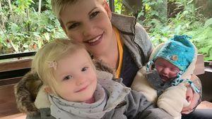 Süßer Familientag: Melanie Müller mit Mia und Matty im Zoo!