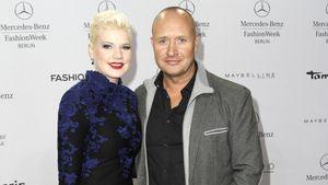 Melanie Müller und ihr Ehemann Mike Blümer auf der Fashion Week Berlin 2015