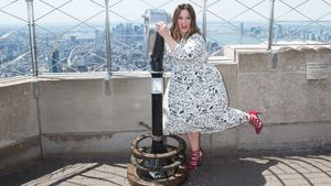 Melissa McCarthy besucht das Empire State Building in New York
