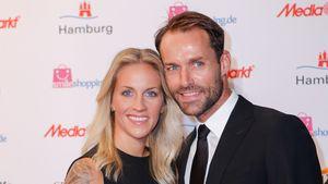 Melissa Thiem und Sven Hannawald beim Deutschen Sportjournalistenpreis 2015
