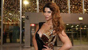 Micaela Schäfer am Frankfurter Flughafen, Januar 2017