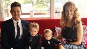 Michael Bublé mit seiner Ehefrau Luisana Lopilato und seinen Söhnen Noah und Elias