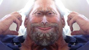 Michael Douglas mit witzigem Foto-Filter