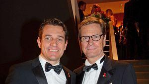 Michel Mronz und Guido Westerwelle bei der Operngala für die Deutsche Aids-Stiftung