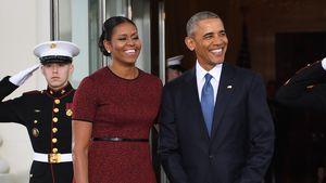 Michelle und Barack Obama vor dem Weißen Haus im Januar 2017