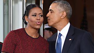 Michelle und Barack Obama vor der Begrüßung von Donald Trump im Weißen Haus