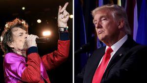 Mick Jagger und Donald Trump