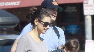 Mila Kunis, Ashton und Wyatt Isabelle Kutcher unterwegs in Los Angeles