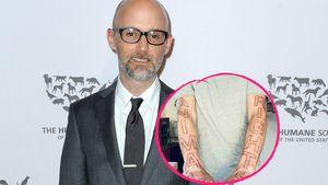 Vollblut-Veganer: Moby hat jetzt XL-Tattoos für Tierrechte