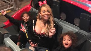 Monroe Cannon, Mariah Carey, Moroccan Cannon in Disneyland/Kalifornien