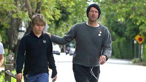 14. Geburtstag: Chris Martin und Sohn Moses gehen spazieren