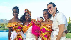 Motsi Mabuse mit Schwester Otlile, Nichte Onkarabile, Schwester Phemelo und Jorge Gonzalez