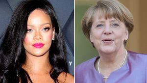 Superstar Rihanna twittert an Bundeskanzlerin Angela Merkel