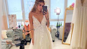 Hier sucht Ex-GNTM-Girl Nadine Wimmer ihr Brautkleid aus