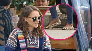 Fashion-Fauxpas? Natalie Portman trägt Socken in Leo-Heels