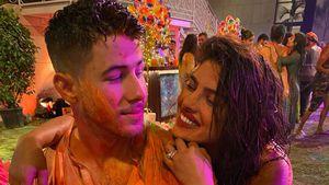 Kunterbunte Fotos: Nick Jonas und Priyanka feiern Holi-Fest