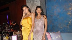 Auf Partys: VS-Model Chanel Iman zeigt stolz Mini-Babybauch