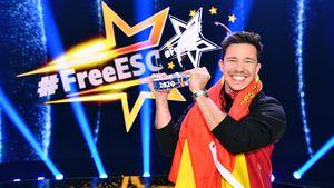 So ausgelassen feierte Nico Santos seinen #FreeESC-Sieg!