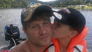 Nico Schwanz mit seinem Sohn Damian im Urlaub