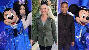 Noah Cyrus, Daniela Katzenberger und John Legend im Disneyland Paris