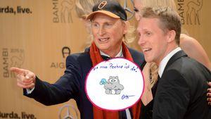 Fanboy-Moment! Otto malt für Oli Pochers Sohn Ottifanten