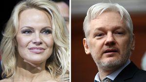 Pamela Anderson und Julian Assange