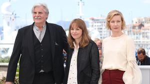 Peter Simonischek, Maren Ade und Sandra Hüller bei den Filmfestspielen in Cannes
