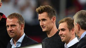 Philipp Lahm, Miroslav Klose und Per Mertesacker